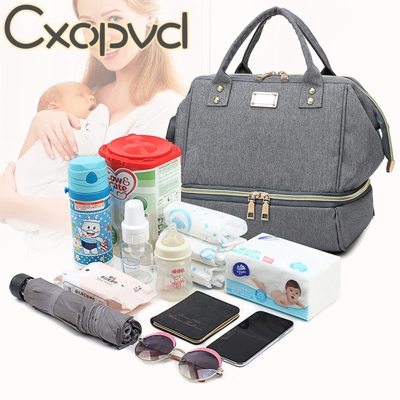 Fashion Mummy Maternity Diaper Bag Large Baby Bags For Mom Thermal Insulation Travel Nappy Chaning Backpack Stroller Organizer mummy fashion large capacity stroller diaper backpack bag mom nappy multifunctional organizer bags maternity travel backpack
