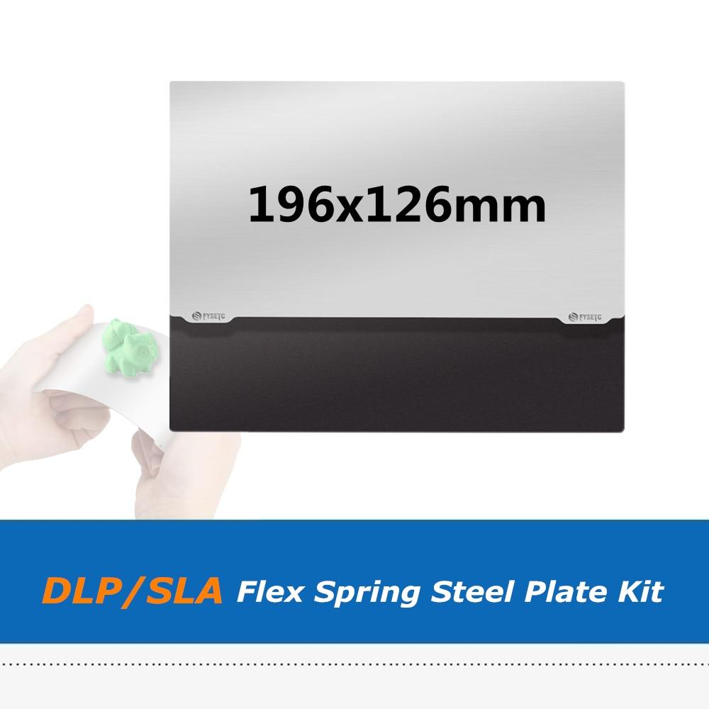 Гибкая пластина 196X126mm с пружинной стальной платформой + наклейка с магнитной основой B-side для 3D принтера Elegoo Saturn V2 SLA DLP