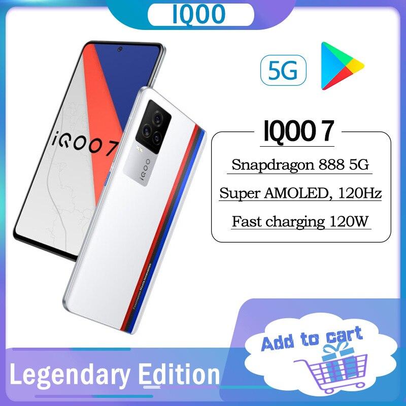 Original iQOO 7 5G Smartphone Snapdragon 888 120W Dash Lade Ultra-Schnelle Flash KPL Offizielle Rennen Mobile telefon Spiel Handy
