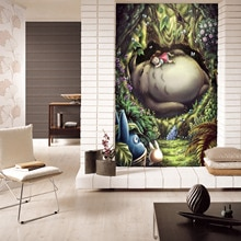 [Self-Adhesive]  3D My Neighbor Totoro 85450 Japan Anime Wall Paper mural Wall Print Decal Wall Murals