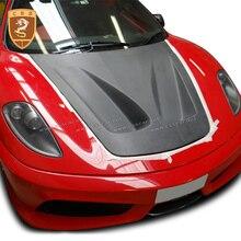 Pour Ferrari F430 modifié véritable couverture de capot en Fiber de carbone fixe vent sport voiture P1 style