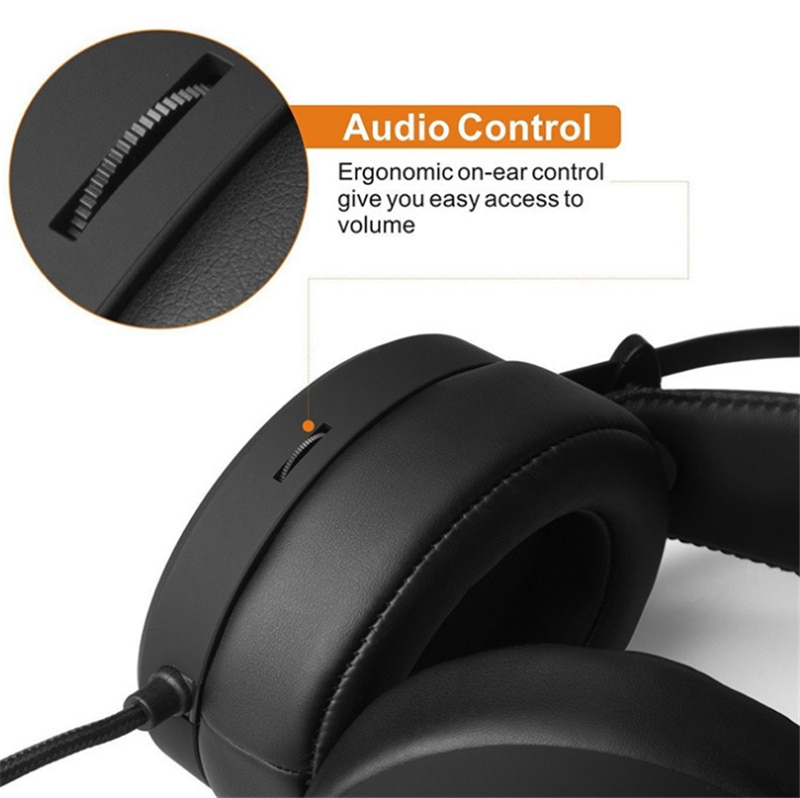 Stereo Gaming Headset For PS4 Laptop Over Ear Gamer Headphone with Mic Noise Cancel PC Computer Phone Tablet Helmet enlarge