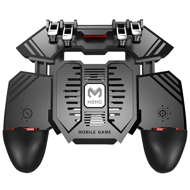 AK77 Gamepad para PUBG Helper teléfono móvil Gamepade radiador mango enfriado por agua ventilador Six Fingers PUGB Handle Power Bank