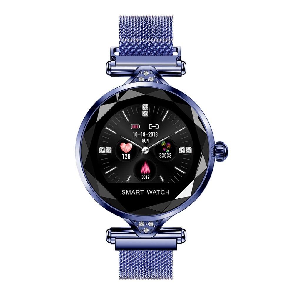 Reloj multifunción con pantalla a Color, redondo, para mujer, ritmo cardíaco, presión arterial, deportes, pulsera inteligente impermeable