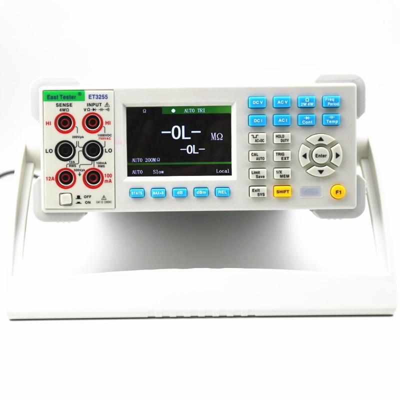 ET3255 5 1/2 3.5 ''عالية الدقة الرقمية المتعدد المقاومة السعة تردد DCV ACV DCI ACI فاحص