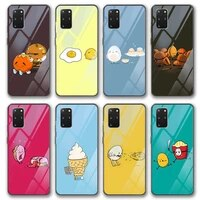 funny food glass case for samsung galaxy s21 a51 s20 a50 a71 a70 a12 s10 s9 s8 a21s s10e a20 a30 note 20 10 9 8 lite plus ultra