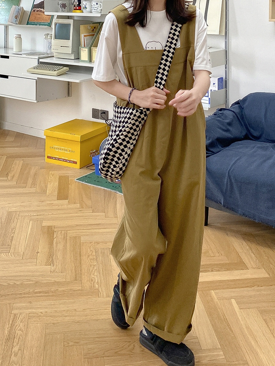 Siamese Shorts Women's Summer Loose Straight Work Clothes Leisure Wide Leg Fisherman's Pants