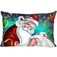 cushion christmas cover throw pillow case rectangle cushion for sofahomecar decor zipper custom pillowcase
