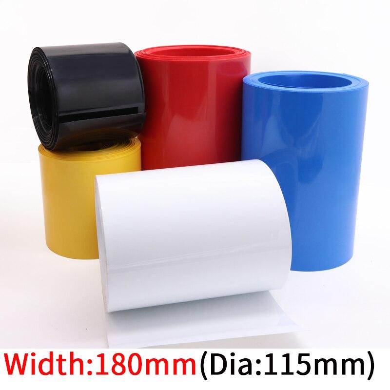 Tube thermorétractable en PVC, diamètre 115mm, largeur 180mm, batterie au Lithium, 18650 paquets