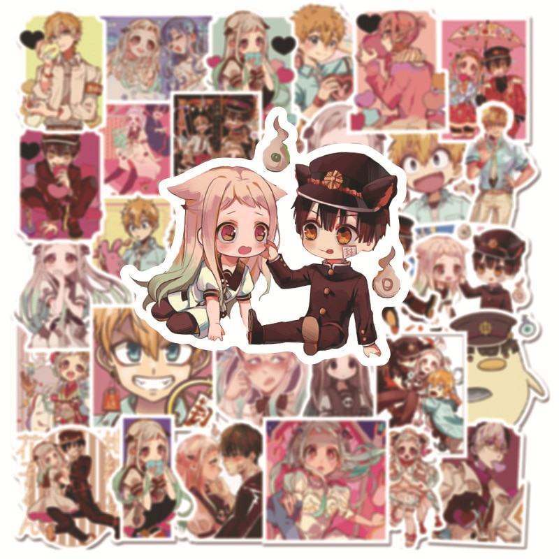 50Pcs Anime Toilet-Bound Hanako kun Stickers 3-4 CM Cute Waterproof Graffiti Stickers For Laptop Phone Cup Suitcase Scrapbooking недорого