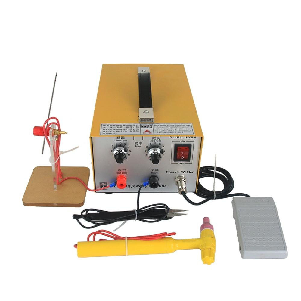 DX-30A ручной точечный Лазер сварщик импульса машина для стыковой сварки оборудование для ювелирных изделий инструмент 220V 110V для цвета: золот...