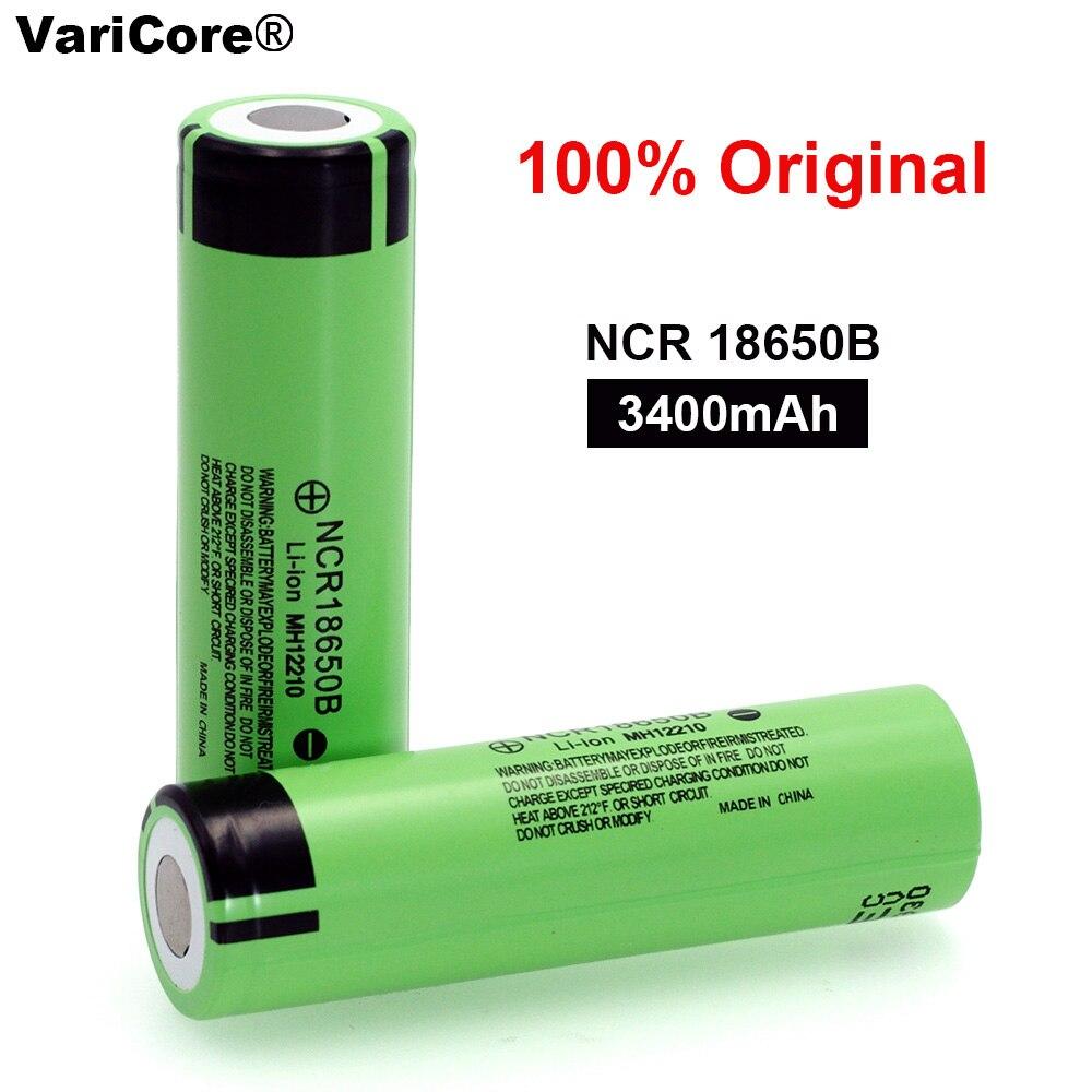 100% Nuevo Original NCR18650B 3,7 V 3400 mAh 18650 Batería Recargable de Litio para Baterías de Linterna