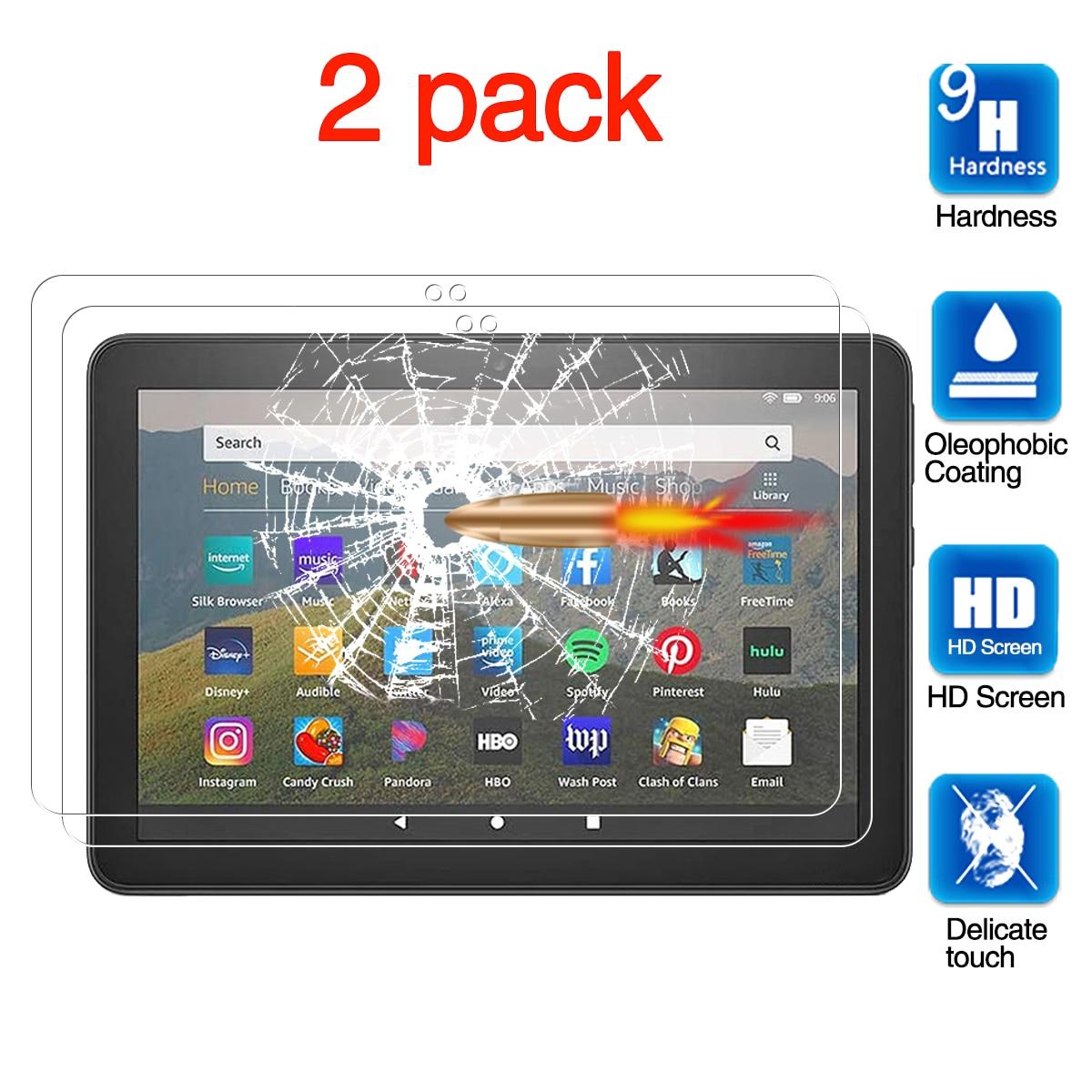 Para fogo hd 8 (2020) protetor de tela, para fogo hd 8 plus (2020) protetor de tela, tablet película protetora temperado
