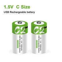 new size c 1 5v 5000mwh universal micro usb charging batteries rechargeable battery charged lipo lithium polymer battery
