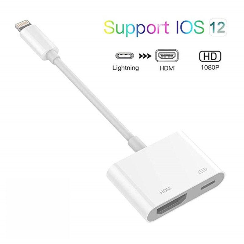 Para Lightning a HDMI adaptador Digital AV 1080P puerto de carga seleccionar...
