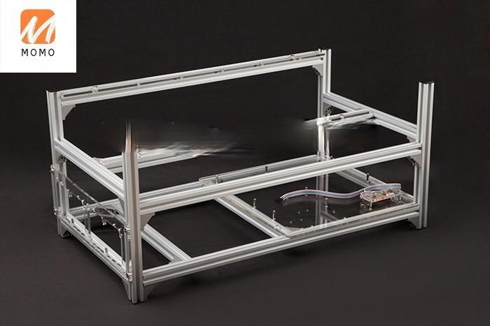 6 GPU Mining Rig Frame Rack Aluminum Stackable Miner case Open Air Frame for Bitcoin Miner enlarge