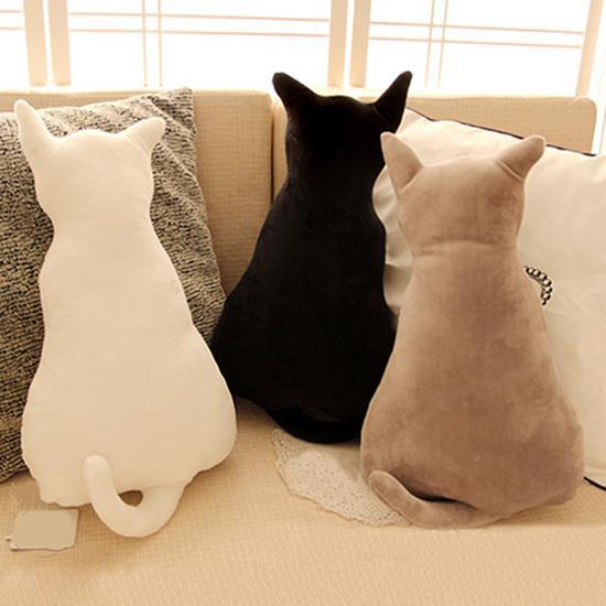 1Pcs Cute Cartoon Cat Soft Plush Back Shadow Toy Sofa Pillow Home Bedroom Office Seat Cushion Doll Cushion Kids Birthday Gift