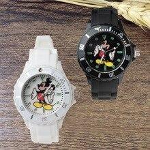 Reloj de pulsera de regalo Mickey Mouse de cuarzo para niños, relojes para niños y niñas, reloj para niños, reloj de cuarzo de plástico Simple
