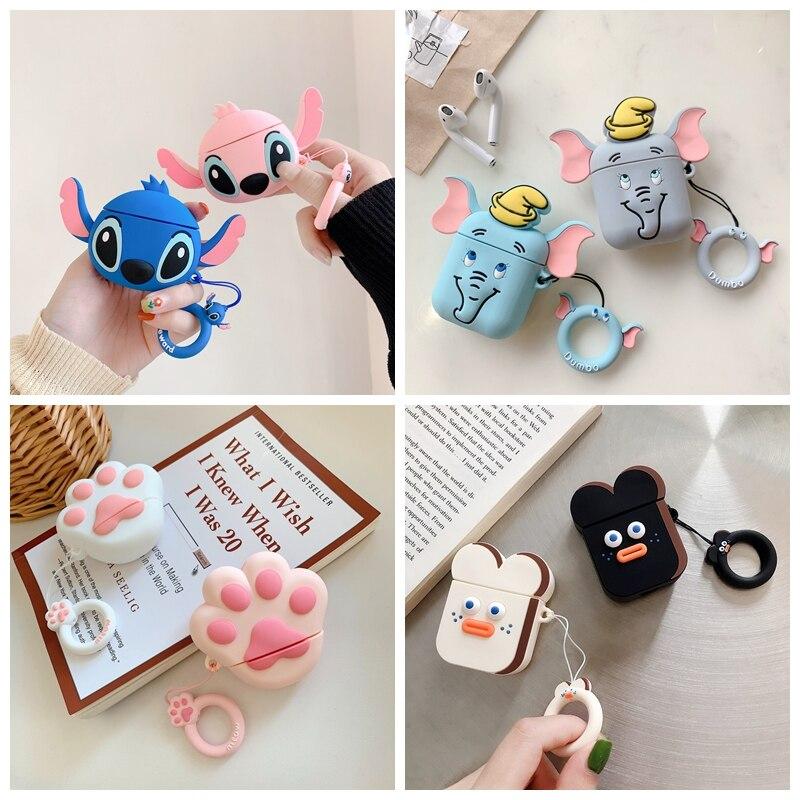 Funda de auriculares inalámbricos Bluetooth para AirPods adorable garra de gato, caja de auriculares para Apple AirPods 2 1, funda protectora
