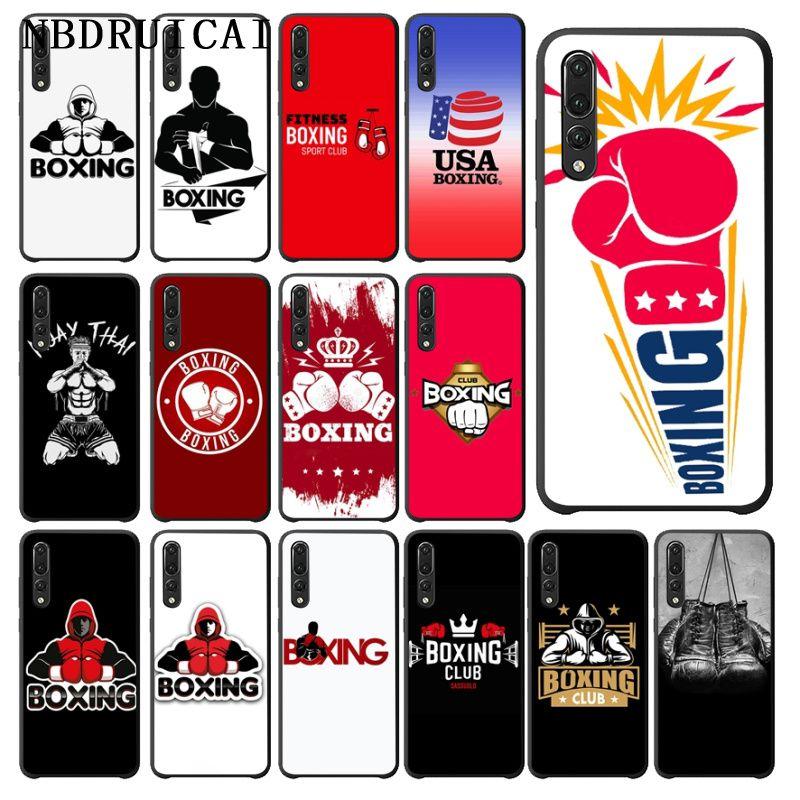 NBDRUICAI Muay Thai Boxing Gloves Silicone Phone Case for Huawei P9 10 lite P20 pro lite P30 pro lite Psmart mate 20 pro lite