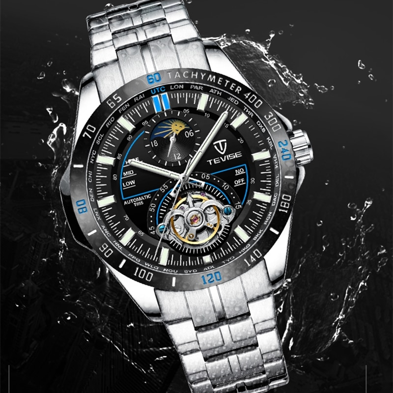 new tevise luxury brand men watch mechanical watches luminous automatic watch male clock business wristwatch relogio masculino TEVISE 2020 Mechanical Watches Fashion Luxury Men's Automatic Watch Clock Male Business Waterproof relogio Wristwatch The new