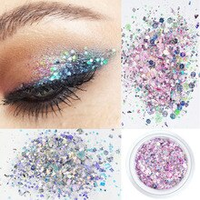 12Colors 10g Nail Decoration Glitter Eye Makeup Sequin Glitter 3D Flake  Festive Party Decoration fo