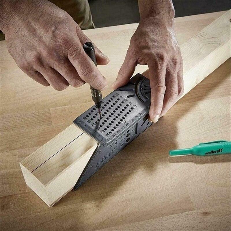 Famegmunkáló vonalzó 3D gérvágási szögmérő négyzetméret - Mérőműszerek - Fénykép 3