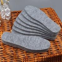 3 пары/партия из 5 пар Термальность шерстяные фетровые стельки утолщенная теплая стелька для обувь для мужчин и женщин; Дышащая и приятная на...