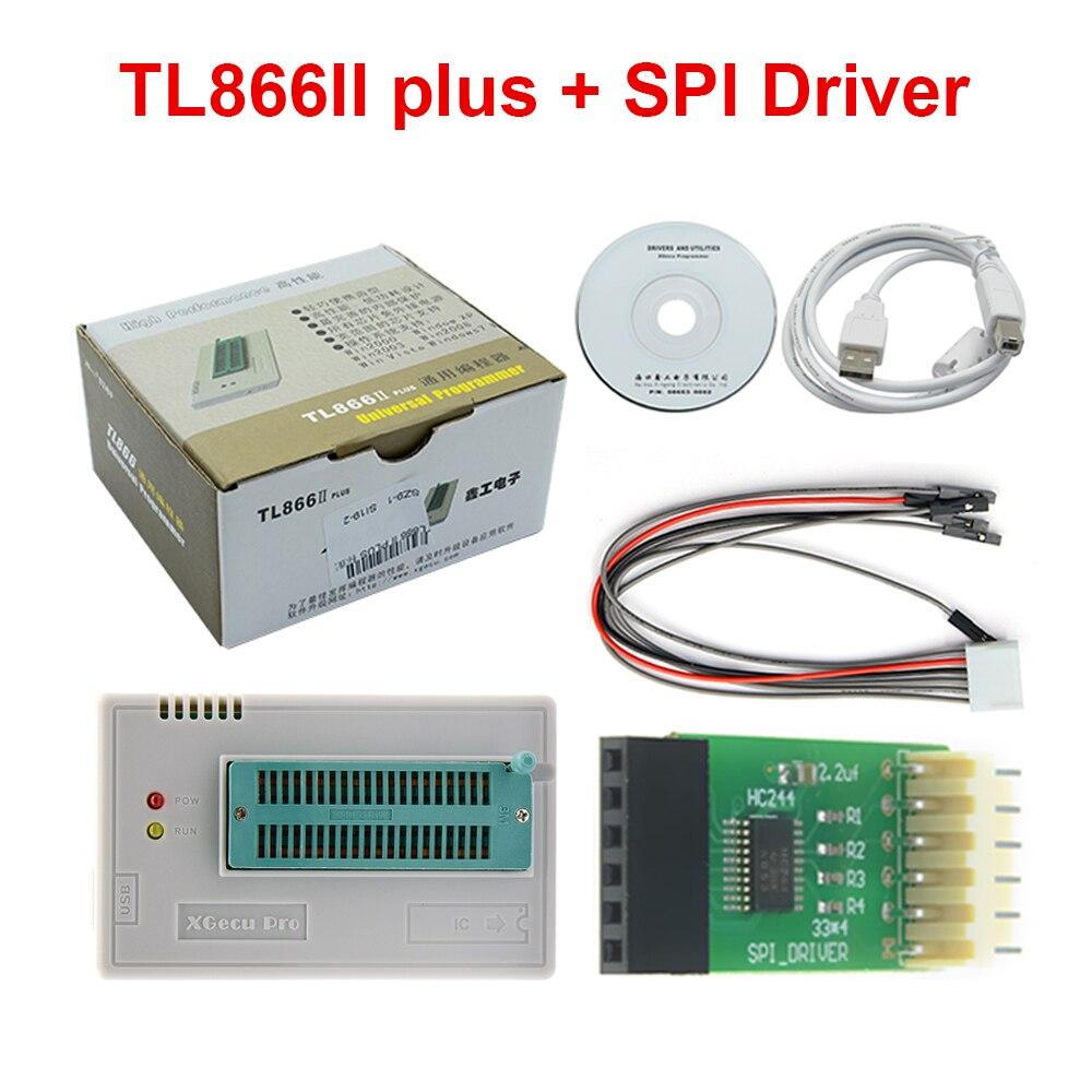 Original New TL866II PLUS TL866 Updated MiniPro Universal High Speed USB Programmer High Performance 100% +SPI Driver