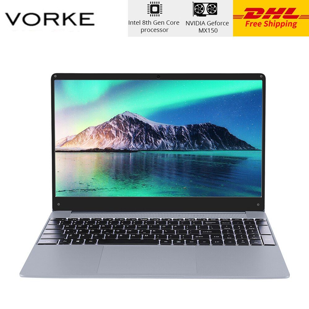"DHL VORKE cuaderno 15 PRO portátil Intel Core i5-8250U 15,6 ""Windows 10 cuerpo totalmente de metal 16GB DDR4 SSD de 512GB NVIDIA GeForce MX150"