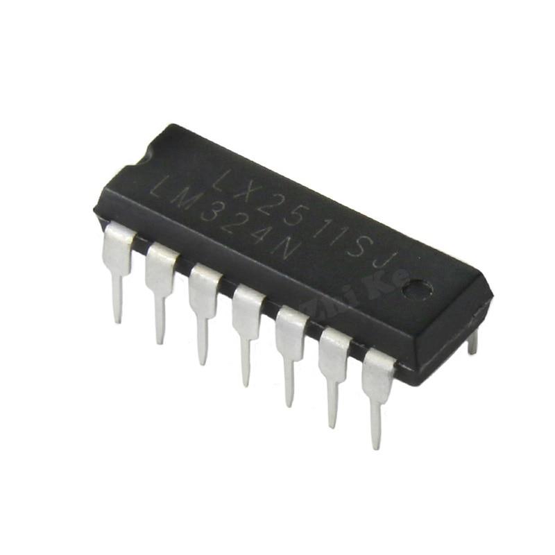 10pcs lm324n dip 14 324n dip lm324 dip 14 324 new 10PCS LM324N DIP14 LM324 DIP DIP-14 new and original IC
