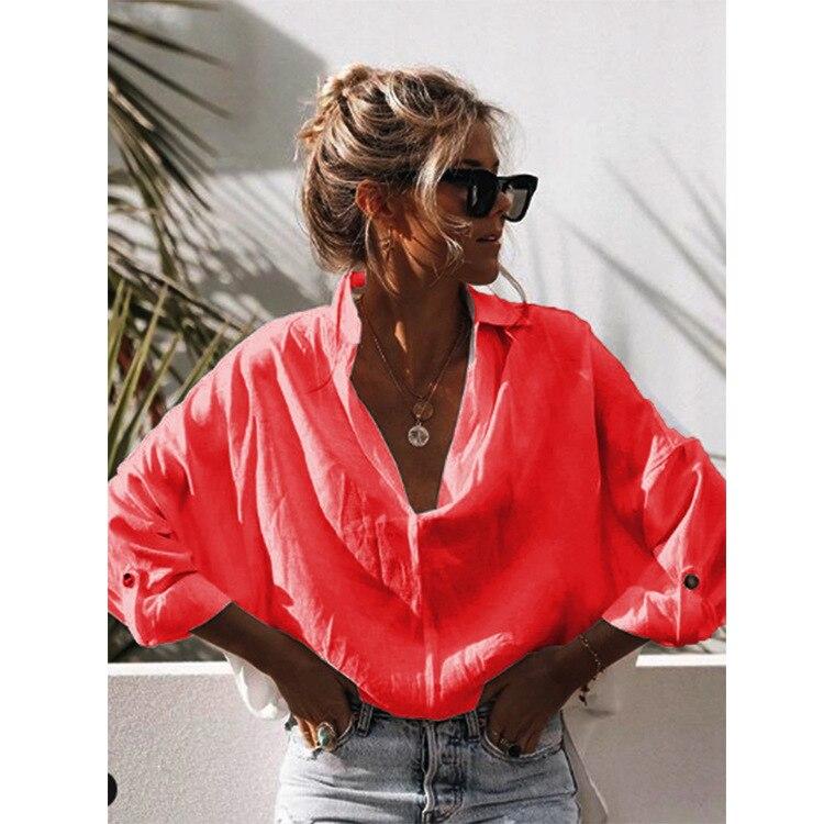 Mais tamanho feminino coreano roupas de moda 2020 boho blusas harajuku senhoras topo das mulheres e blusas botão casual
