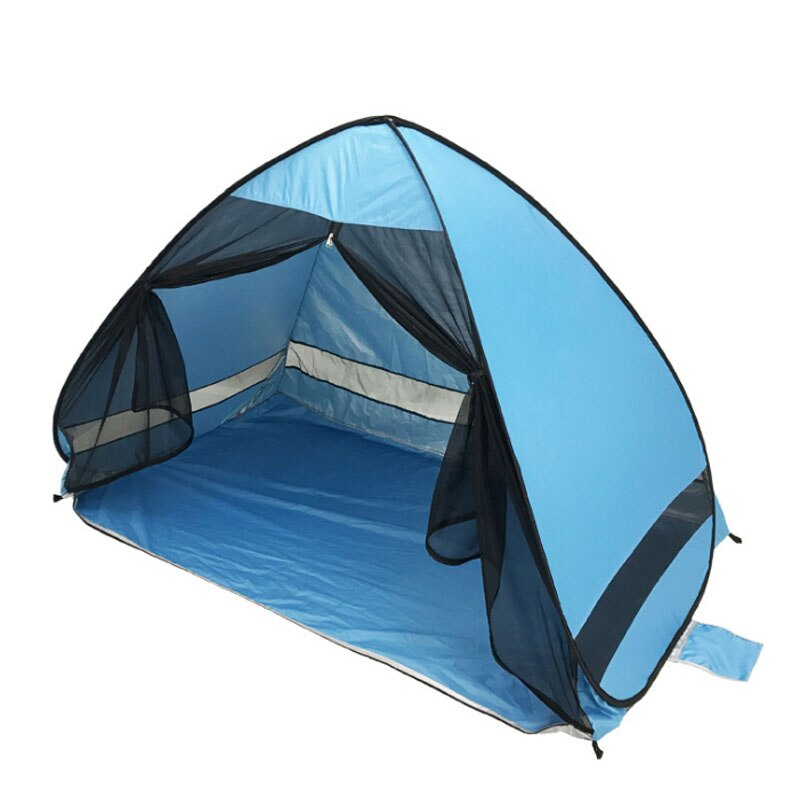 Large Pop Up Beach Tent Automatic Sun Shelter Cabana Easy Set Up Light Weight Camping Fishing Tents  Anti-UV Portable Sunshade