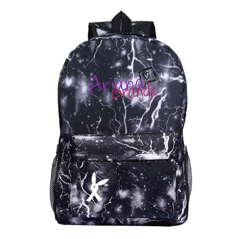 Buautiful Ariana Grande Galaxy Backpack Teens Schoolbag Student Bookbag Boys Girls Kids Daily Bag Men Women Travel Rucksack Gift