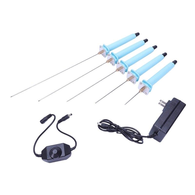 Eua plug, 1 conjunto 5-25 cm caneta de corte de espuma elétrica poliestireno máquina cortador kit ferramenta mão gravador faca quente isopor