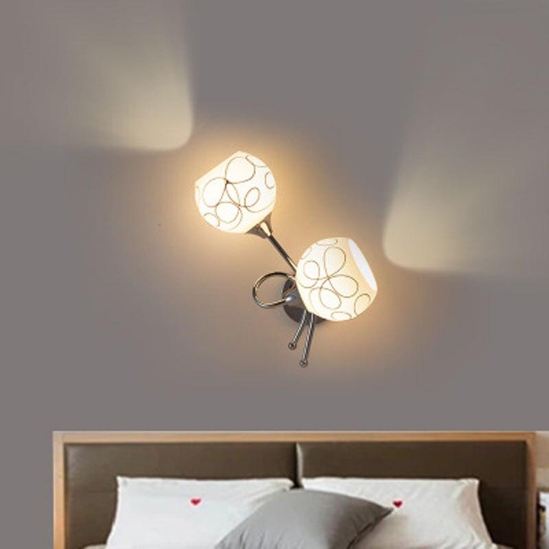 Nueva lámpara de pared americana creativa led moderna minimalista de cristal lámpara de pared para cabecera estilo europeo escalera pasillo lámpara