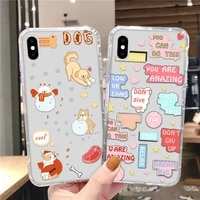 shockproof case for iphone 12 pro max 11 iphone12 mini funda for iphone 7 8 plus xr xs max x 6 6s se 2020 cute cover clear funny