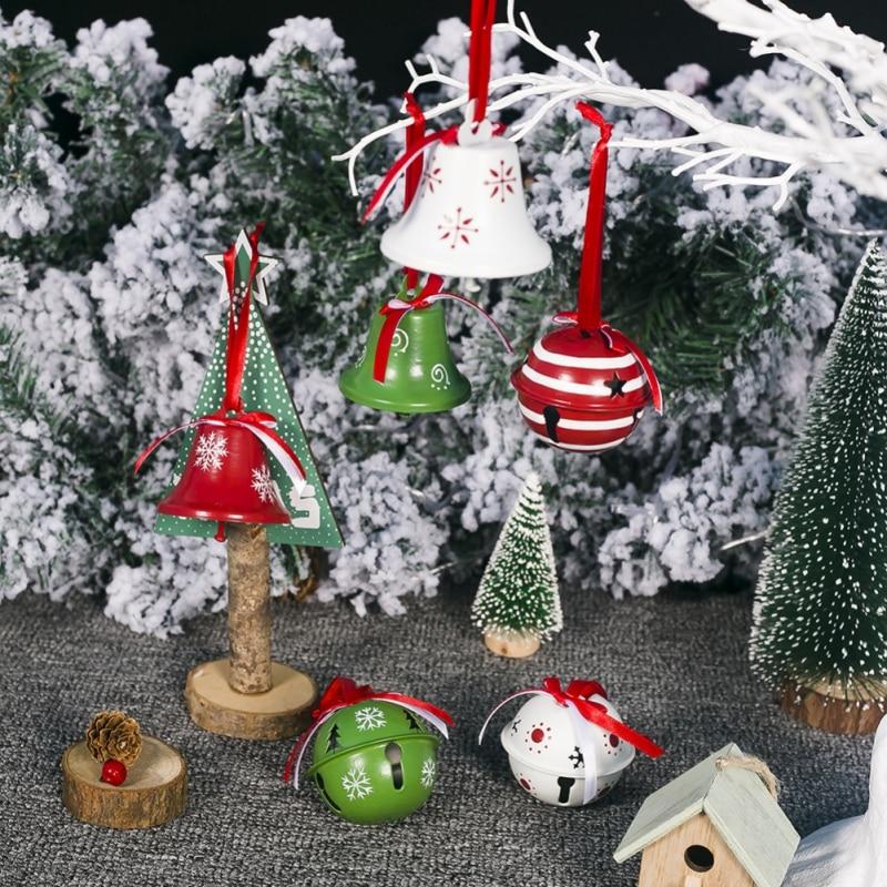 3 unids/set campana De Navidad colgante De hierro decoración De Navidad hogar...