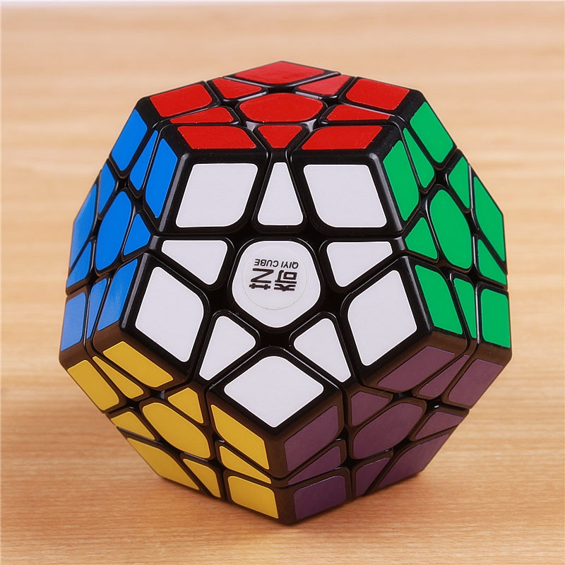 Qiyi Qiheng cinco cubo mágico pegatina profesional nivel 3 cinco cubo mágico 12 cara lenta y descompresión cubo mágico