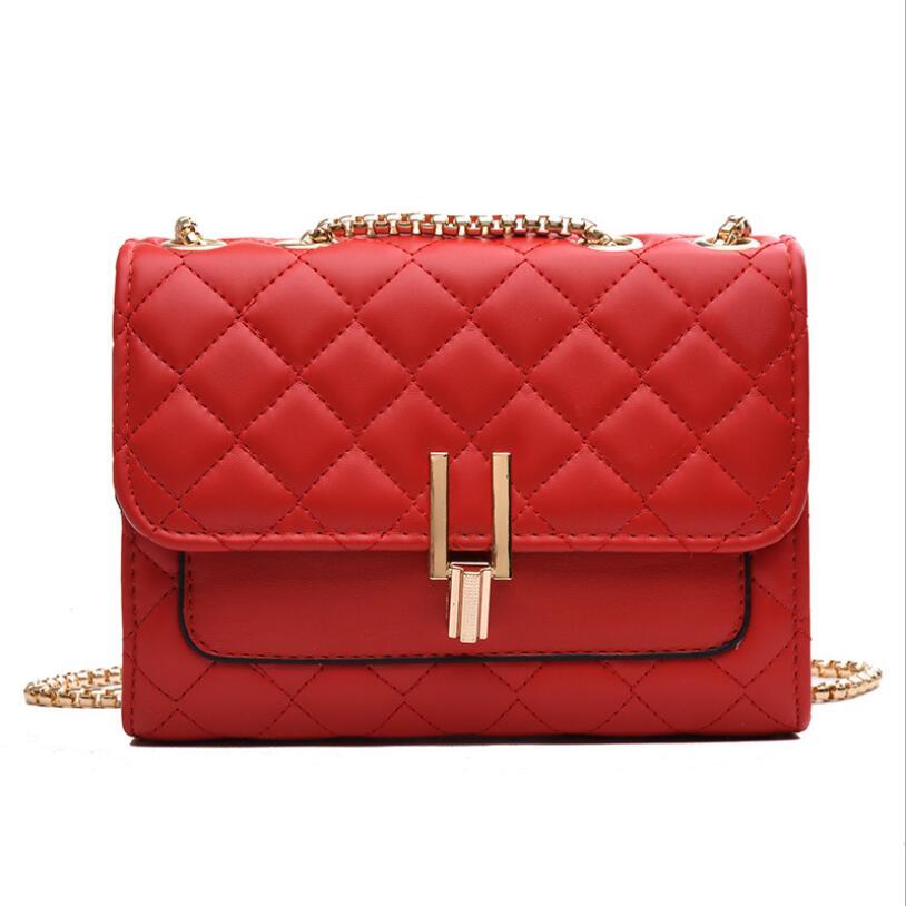 B02 New Rhombus Black Rock Soft Single Shoulder Oblique Span Chain Bag Luxury Handbags for Woman 2021 PU Leather Messenger Bag
