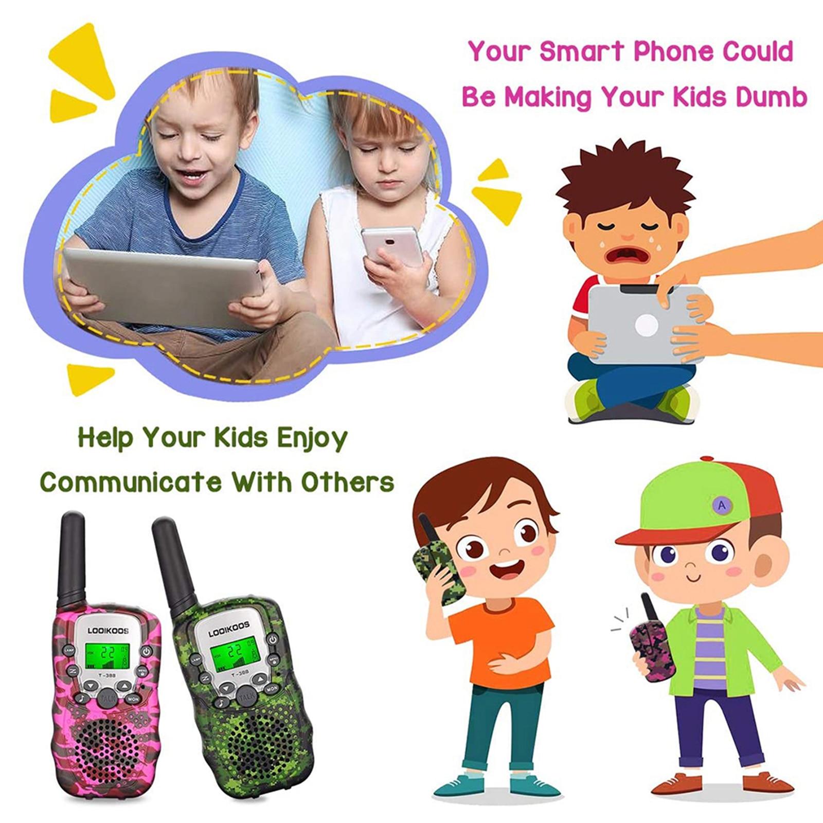 2Pcs Walkie Talkie Children Comunicador Kids Radio Distance 2-3km 1 Pair Camouflage Walkie Talkies Birthday Gift enlarge