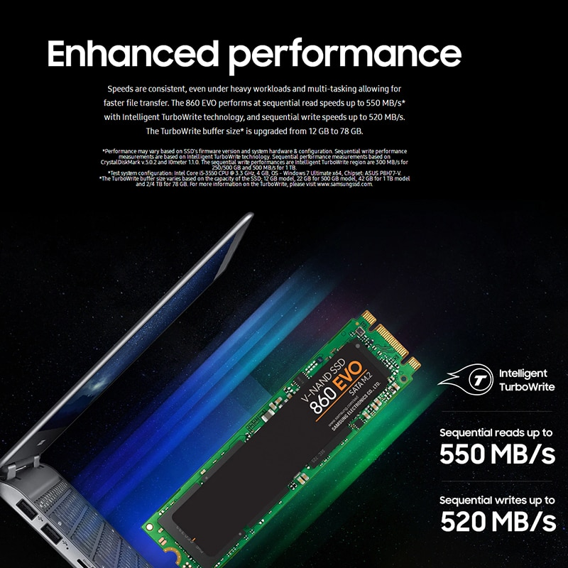 SAMSUNG HDD Internal SSD 860 EVO M.2 1TB SDD 2T Solid State Drive HDD 250GB 500GB Hard High Speed For Laptop PC Computer Desktop enlarge