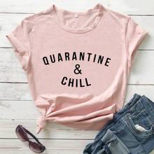 Quarantaine et froid chemise sociale distanciation reine drôle t-shirt rester à la maison chemises quarantaine cadeau chemises 100% coton t-shirt