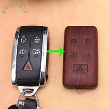 Car Styling For Jaguar XF 2008-2012 Keyless Entry Remote Control Wooden Car Key Fob Shell Case
