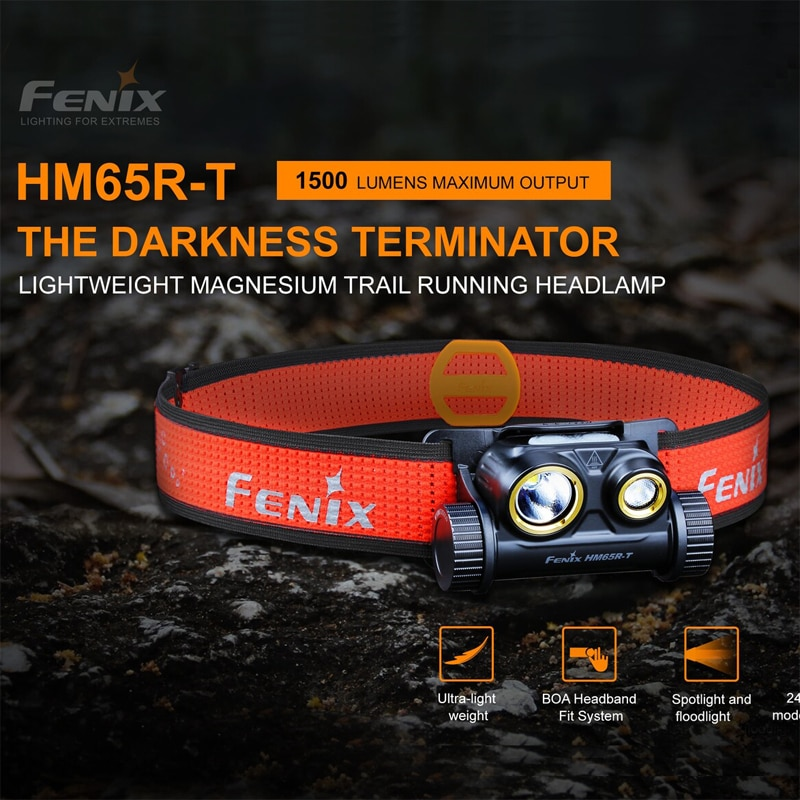 Phare en magnésium Tri-preuve FENIX HM65R-T 1500 Lumens pour des activités de plein air de longue durée et de haute intensité