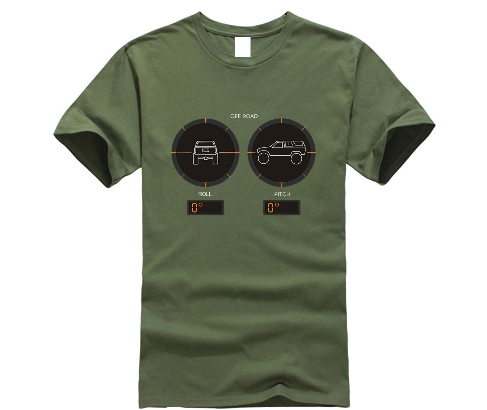 ¡Novedad de 2020! Camiseta para hombre a la moda de 4 corredor 4x4, soporte de techo, deslizador de roca, camisa con parachoques de cabrestante y cuello redondo