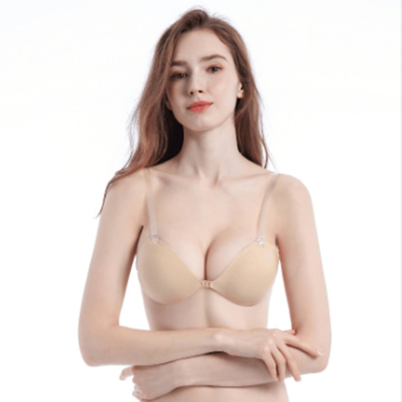 3cm Adam's hand thickened silicone invisible bra without shoulder strap and palm type breast patch directly provided by manufact
