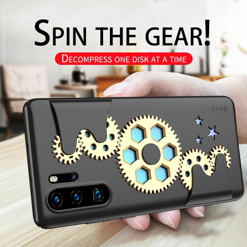 Funda para Huawei Mate 30 20 Pro, engranaje de descompresión giratorio mecánico, carcasa ultrafina para Huawei P30 20 Pro Nova 5 Pro