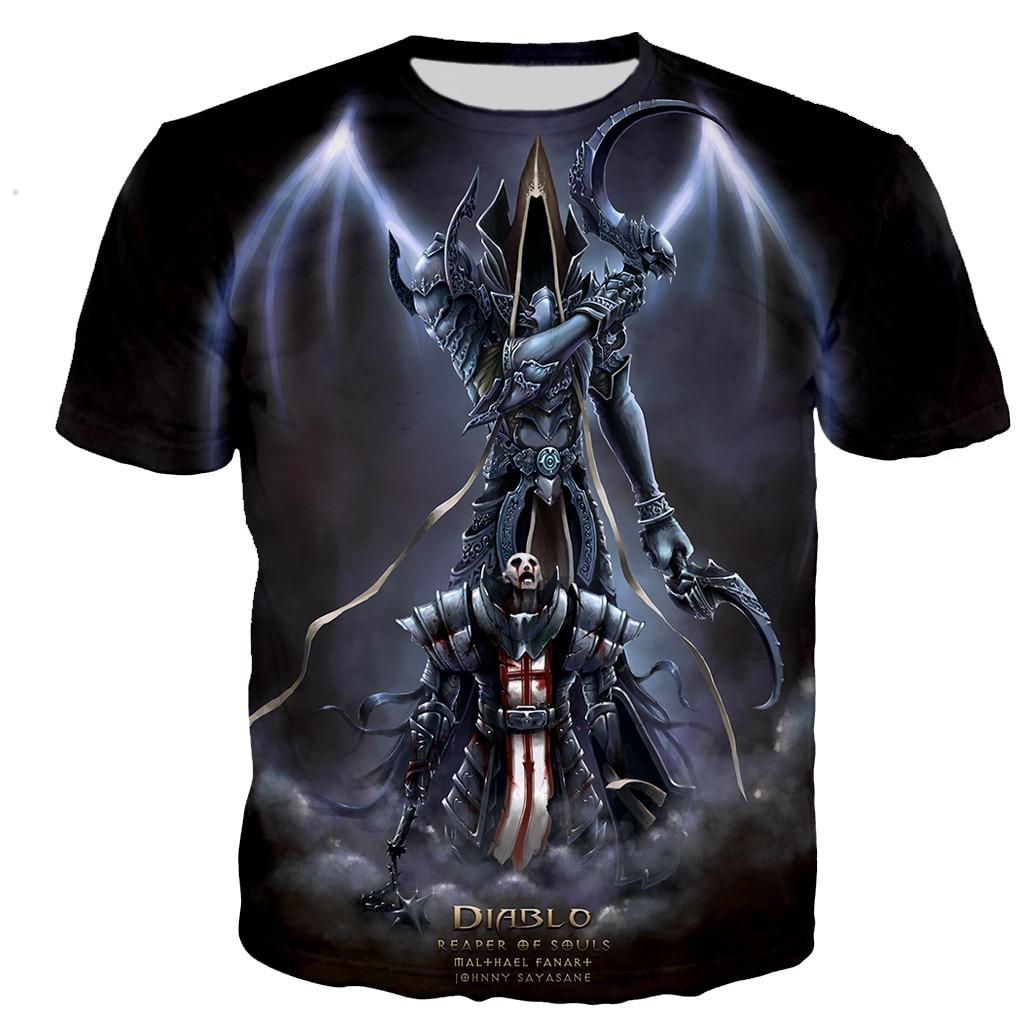Diablo 3 Reaper of Soul 3D Printed T-shirts Men/women T ShirtS Casual Harajuku Hip Hop Style Tshirts O-neck Oversized Tops 5XL
