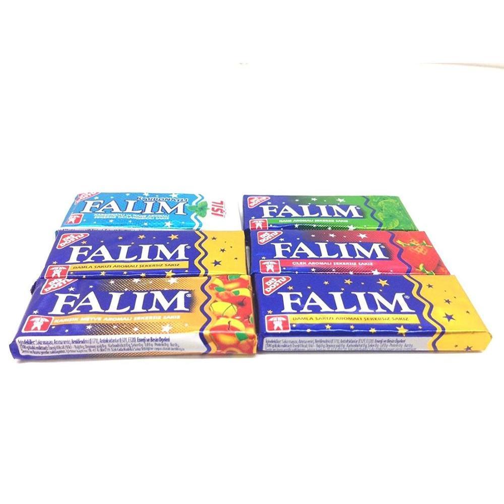 Falim sugarless chewing gum , sugar free , 6 tastes 100 piece , delicious taste